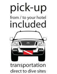 pick up transportation hotel dive site dive center mobil